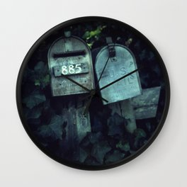 Mailboxes in Love Wall Clock