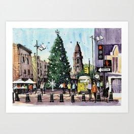 Fort Worth Christmastime Art Print