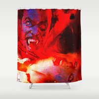 dracula Shower Curtains featuring count dracula by shiva camille