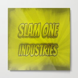 Slam 1 Industries Yellow Smoke Metal Print