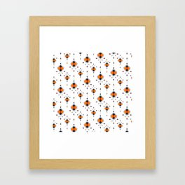 Orange And Black Arrow Boho Pattern Framed Art Print