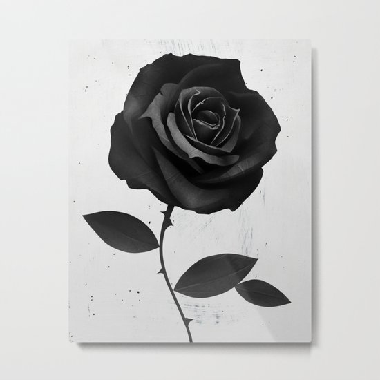Fabric Rose Metal Print