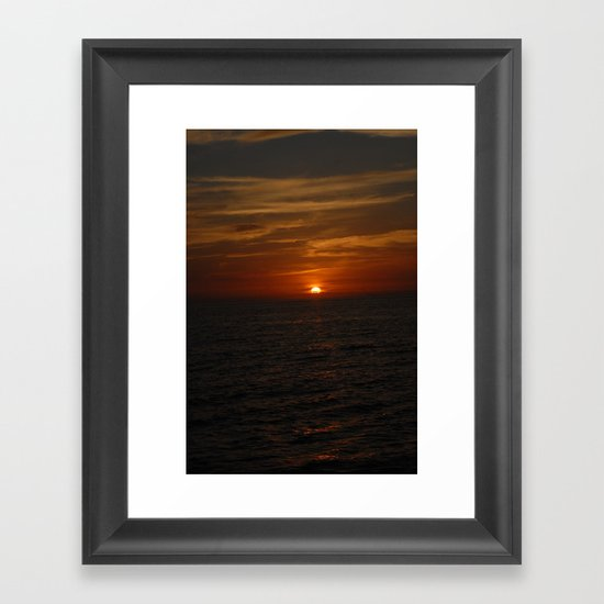 Deep Crimson Framed Art Print