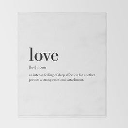 Love Definition Throw Blanket