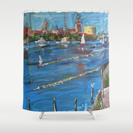Expression Rīga, Latvia Shower Curtain