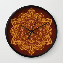 Vintage Egypt Travel Ancient Eye Mandala Wall Clock