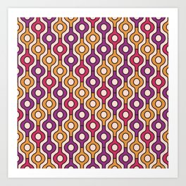 Abstract geometric pattern. Art Print