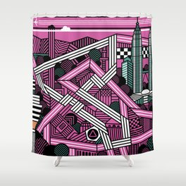 KL city grand prix Shower Curtain