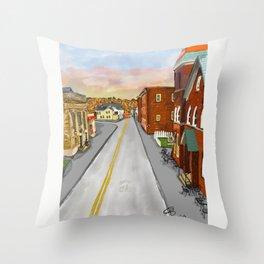 Mainstreet Brunswick, MD Throw Pillow