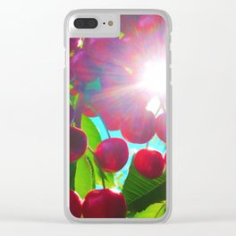 Summer Cherries Clear iPhone Case