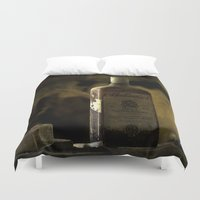 whisky Duvet Covers featuring Ballantines Finest Scotch Whisky by AliceArtDotCom