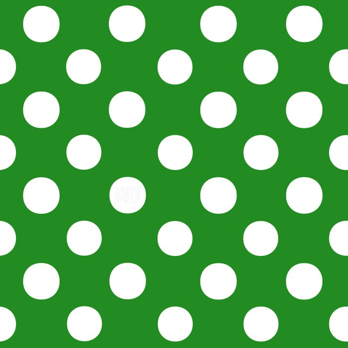 Polka Dots (White/Forest Green) Comforters