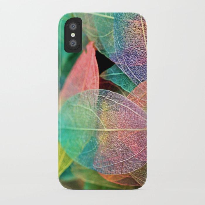 Skeleton Leaves iPhone Case