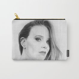 Simone Simons Pencil Portrait. Carry-All Pouch