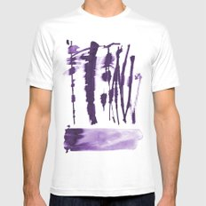 Decorative strokes White Mens Fitted Tee MEDIUM