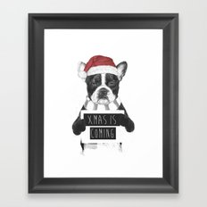 Xmas is coming Framed Art Print