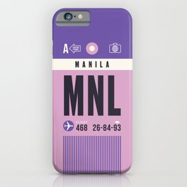 Baggage Tag A - MNL Manila Philippines iPhone Case