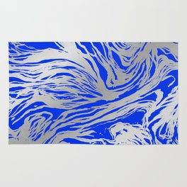 Marbled Blue Rug