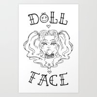 Doll Face Art Print