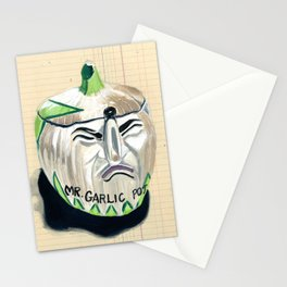 Mr. Garlic Pot in Gouache Stationery Cards