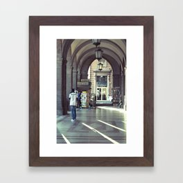 Start walking Framed Art Print