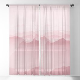 Pink Forest Sheer Curtain