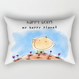 My Happy Planet Rectangular Pillow