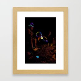 Electric Night Time Framed Art Print