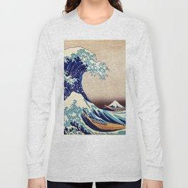 Great Wave Off Kanagawa Long Sleeve T-shirt