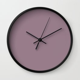 Plain Musk Mauve Color from SimplyDesignArt's Limited Palette  Wall Clock