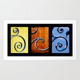 Wrought Iron Set 1 Art Print