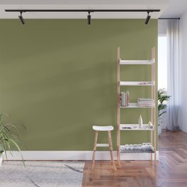 Green Olive | Pantone Fashion Color | Fall : Winter 2019-2020 | London | Solid Color Wall Mural