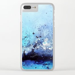 Bermuda Paradise Mixed Media Painting Clear iPhone Case