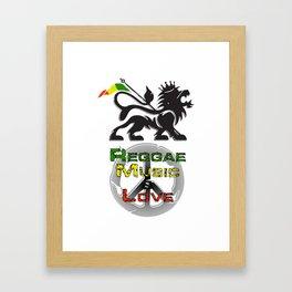 Reggae, Music & Love Framed Art Print