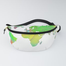 World Map 7 Fanny Pack