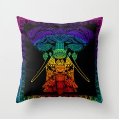 Multi Coloured Patterned Elephant Throw Pillow
