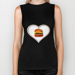 Love Burgers Biker Tank