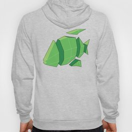 Illustration of a 3D Paper Craft Fish Model Hoody