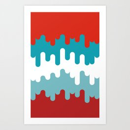 Drips and Drops - Smurf Art Print