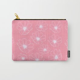 Cosmos Flowers (pink version) Carry-All Pouch