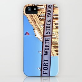 Fort Worth Stock Yards iPhone Case