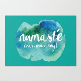 Namasté (watercolour) Canvas Print