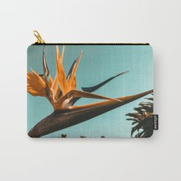 Birds of Paradise Print {1 of 3} | Palm Trees Ocean Summer Beach Teal Photography Art Carry-All Pouch