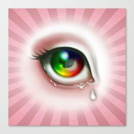 Rainbow Eye - Cry for Me Canvas Print