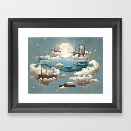Ocean Meets Sky - colour option Framed Art Print