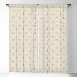 Golden Fan Art Deco Classic Pattern Blackout Curtain