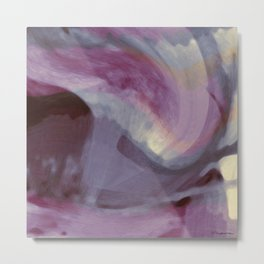 """""""Spring abstract in pink and purple"""" Metal Print"""