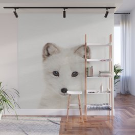 Baby Fox, Baby Animals Art Print By Synplus Wall Mural