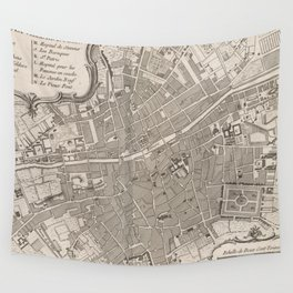 Vintage Map of Dublin Ireland (1764) Wall Tapestry
