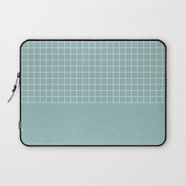 White grid on turquoise Laptop Sleeve